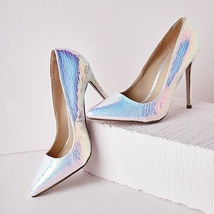 Missguided Holographic Heels